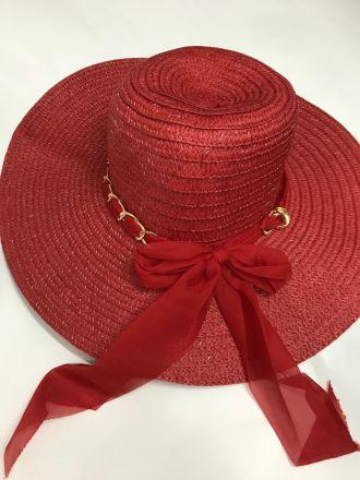дамска шапка с панделка и верижка