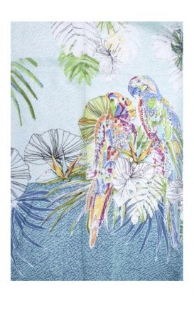 Памучен шал папагал