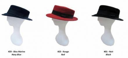 Филцива шапка с черна лента