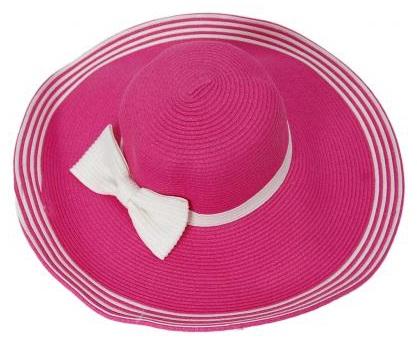 Широкопола дамска шапка в цикламено