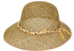 шапка от оризова трева с асиметрична периферия