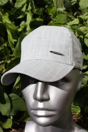 детска шапка лен сива