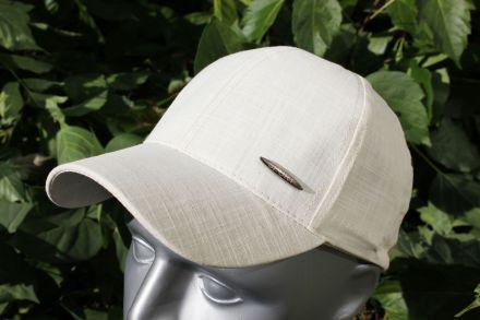 детска шапка лен екрю